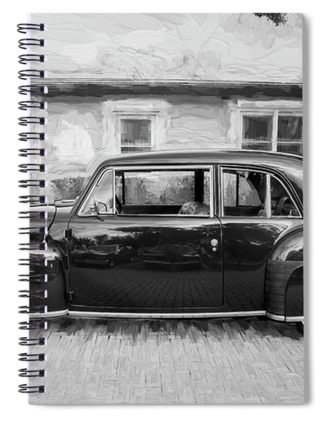 1947 Lincoln Continental Bw Spiral Notebook