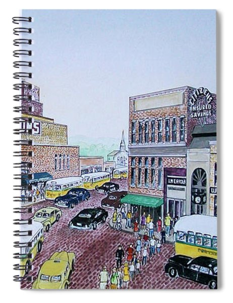 Rush Hour Portsmouth Ohio 1948 Spiral Notebook