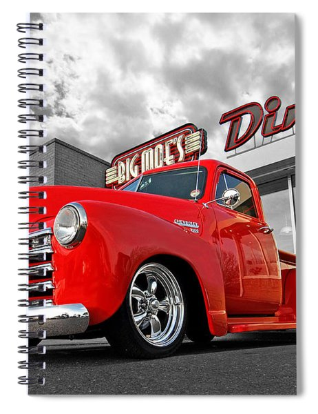 1952 Chevrolet Truck At The Diner Spiral Notebook