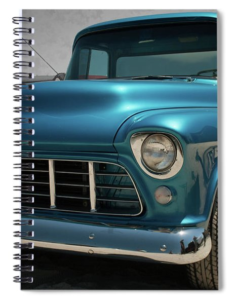 1955 Blue Chevy 3100 Pickup Spiral Notebook