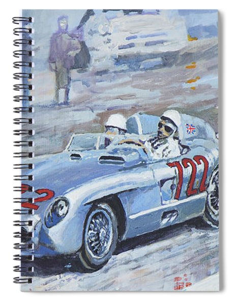 1955 Mercedes Benz 300 Slr Moss Jenkinson Winner Mille Miglia 01-02 Spiral Notebook