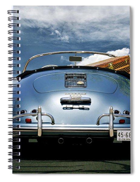 1955 Porsche, 356a, 1600 Speedster, Aquamarin Blue Metallic, Louis Vuitton Classic Steamer Trunk Spiral Notebook