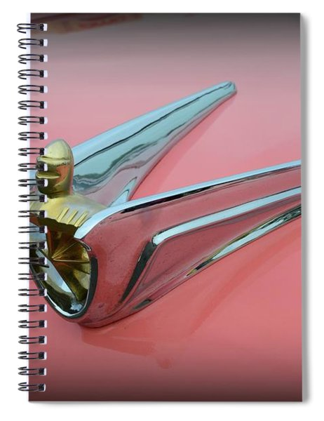 1956 Lincoln Continental Premiere Hood Ornament  Spiral Notebook