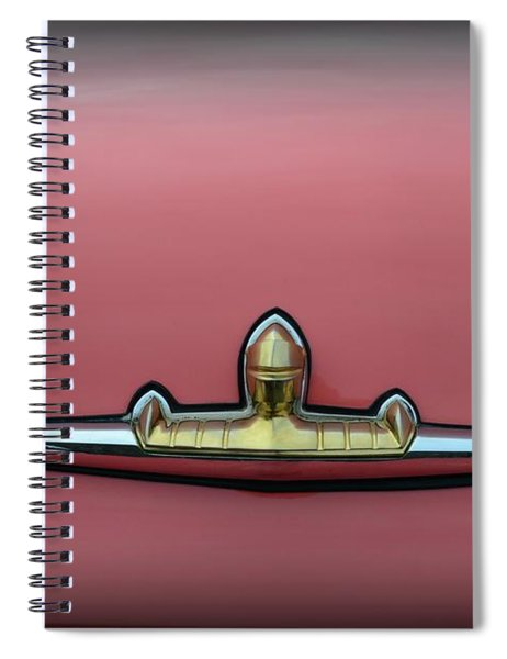 1956 Lincoln Continental Premiere Trunk Badge  Spiral Notebook