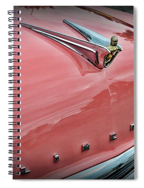 1956 Lincoln Continental The Hood  Spiral Notebook