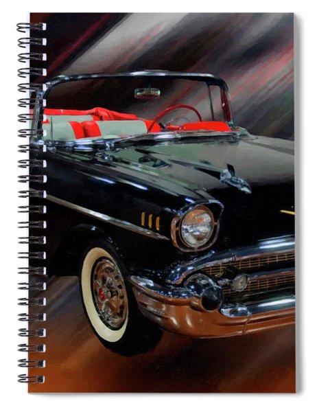 1957 Chevy Bel Air Convertible Digital Oil Spiral Notebook
