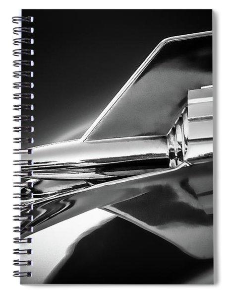 1957 Chevy Bel Air Hood Rocket - Monochrome Spiral Notebook