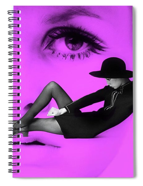 1960's Blast From The Past - Twiggy Spiral Notebook