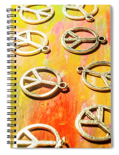 1960s Peace Movement Spiral Notebook