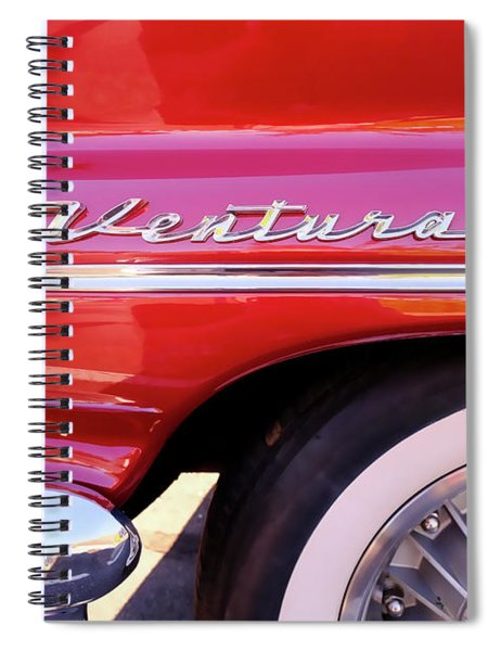 1960s Pontiac Ventura Fender And Logo Spiral Notebook