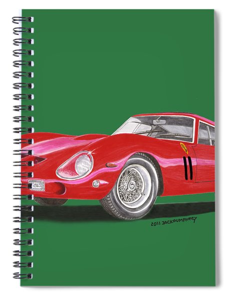 Ferrari G T O Especial Spiral Notebook