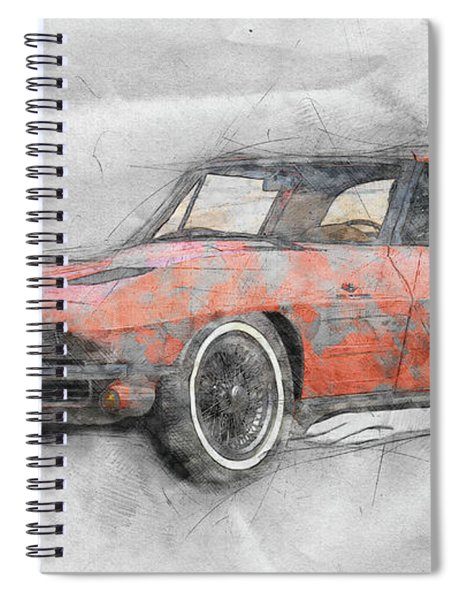 1963 Chevrolet Corvette Sting Ray 1 - 1963 - Automotive Art - Car Posters Spiral Notebook