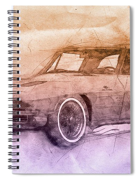 1963 Chevrolet Corvette Sting Ray 2 - 1963 - Automotive Art - Car Posters Spiral Notebook