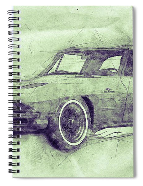 1963 Chevrolet Corvette Sting Ray 3 - 1963 - Automotive Art - Car Posters Spiral Notebook