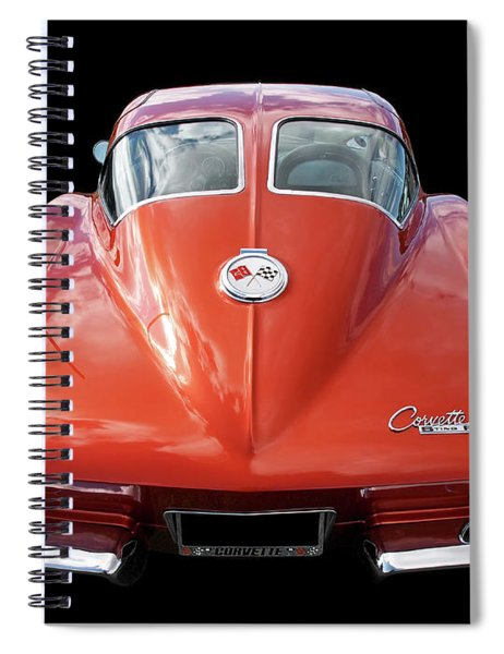 1963 Corvette Stingray Split Window Rear Spiral Notebook