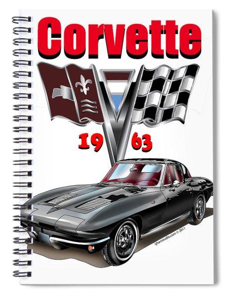 1963 Corvette With Split Rear Window Spiral Notebook