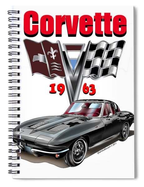 1963 Corvette With Split Rear Window Spiral Notebook