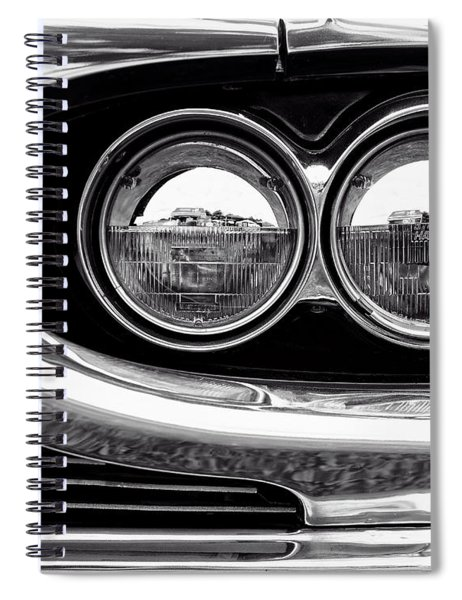 1964 Ford Thunderbird Headlight And Grille Detail Spiral Notebook