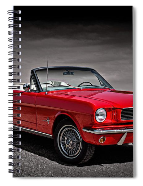 1966 Ford Mustang Convertible Spiral Notebook