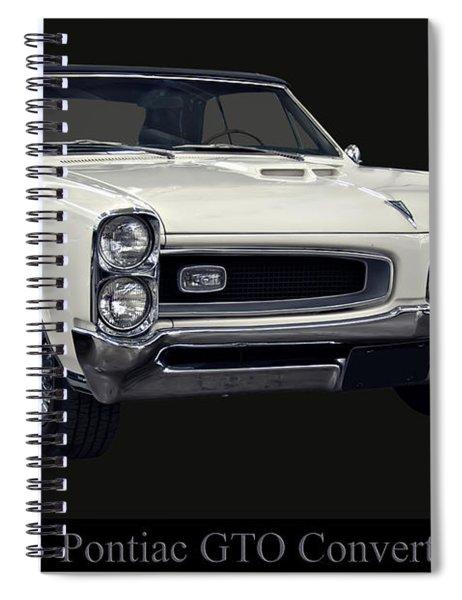 1966 Pontiac Gto Convertible Spiral Notebook