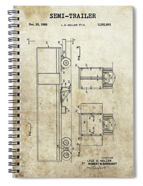 1966 Semi Trailer Spiral Notebook