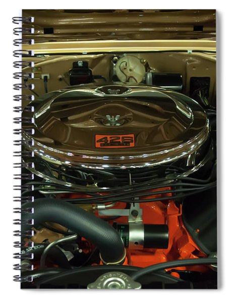 1967 Plymouth Belvedere Gtx 426 Hemi Motor Spiral Notebook