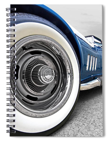 1968 Corvette White Wall Tires Spiral Notebook
