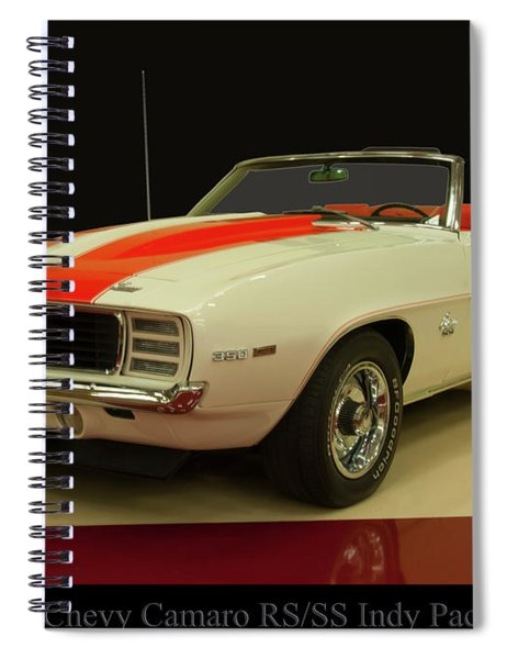 1969 Chevy Camaro Rs/ss Indy Pace Car Spiral Notebook