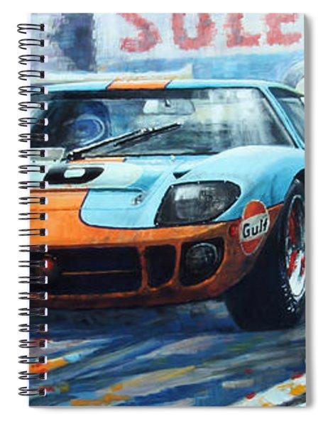 1969 Le Mans 24 Ford Gt 40 Ickx Oliver Winner  Spiral Notebook