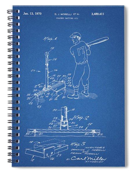 1970 Baseball Practice Patent Spiral Notebook