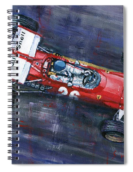 1970 Monaco Gp Ferrari 312 B Jacky Ickx  Spiral Notebook
