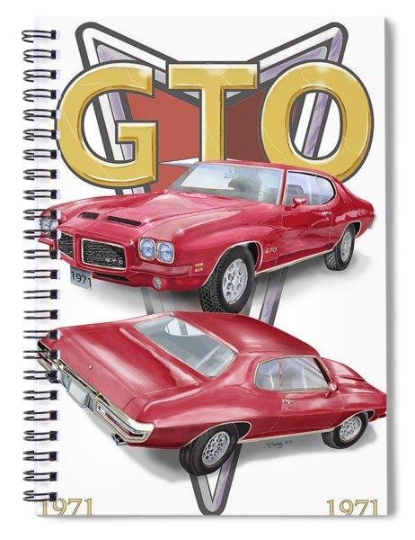 1971 Pontiac Gto Spiral Notebook