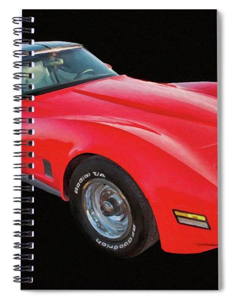 1977 Chevy Corvette T Tops Digital Oil Spiral Notebook