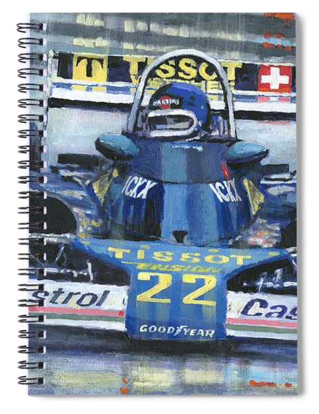 1977 Monaco Gp Ensign Ford N177 Jacky Ickx Spiral Notebook