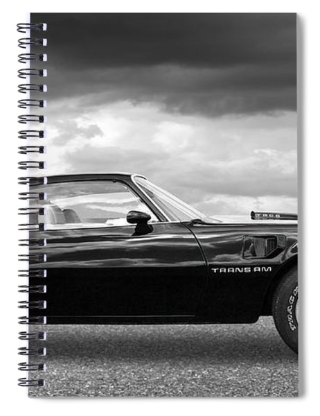 1978 Trans Am In Black And White Spiral Notebook