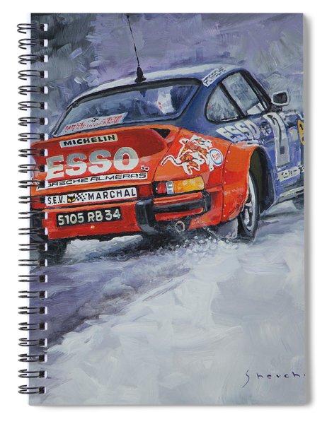 1980 Rallye Monte Carlo Porsche 911 Sc Hannu Mikkola  Spiral Notebook