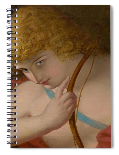 19th Century English School Cupid With Bow. Spiral Notebook