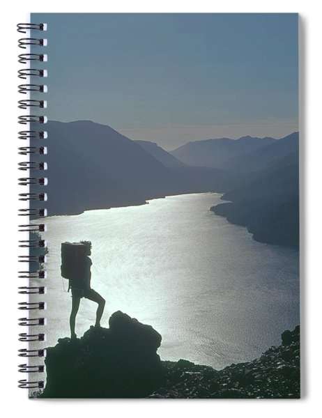 1a4042 Silhouette At Crescent Lake Wa Spiral Notebook