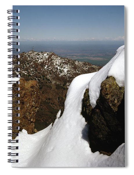 1a6485 Snow On Mt. Diablo Ca Spiral Notebook