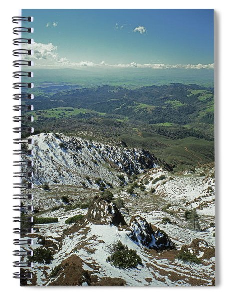 1a6486 Winter Snow Mt. Diablo Ca Spiral Notebook