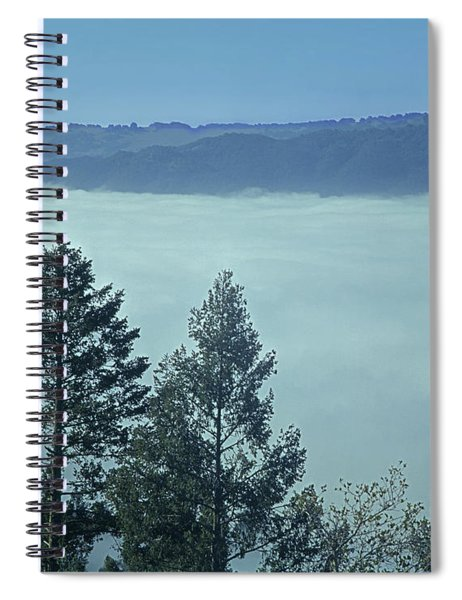 1b6321 Fog Fills Sonoma Valley Ca Spiral Notebook