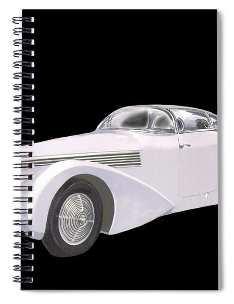 1938 Hispano-suiza H6c Saoutchik Xenia Coupe Spiral Notebook