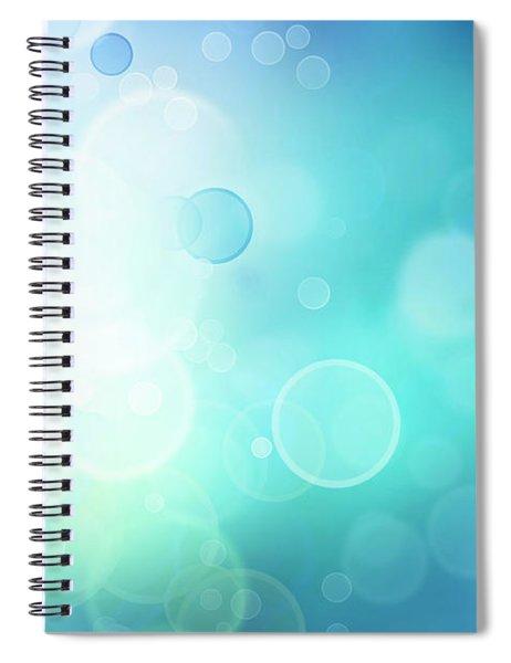Abstract Blurs 16 Spiral Notebook