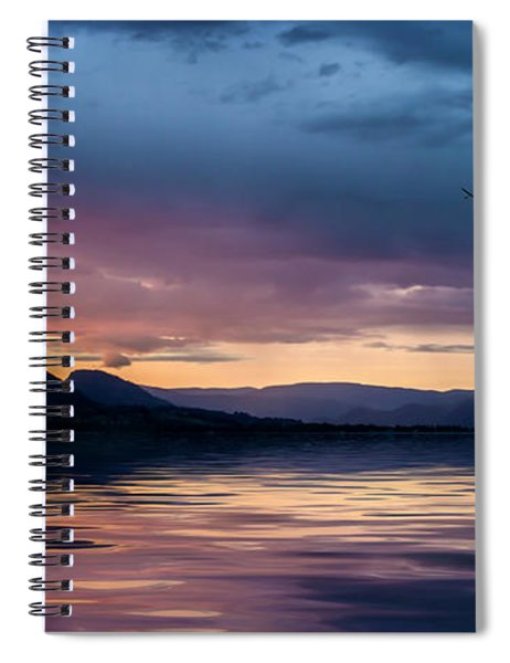 Across The Clouds I See My Shadow Fly Spiral Notebook