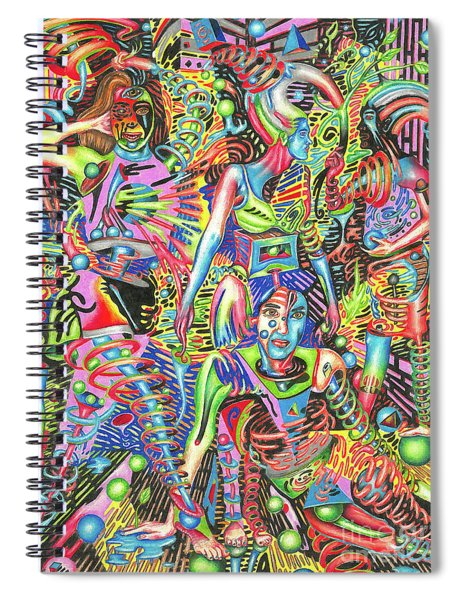 Animated Perspective Of Nocturnal Wandering Spiral Notebook