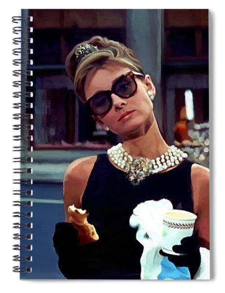 Audrey Hepburn @ Breakfast At Tiffanys Spiral Notebook