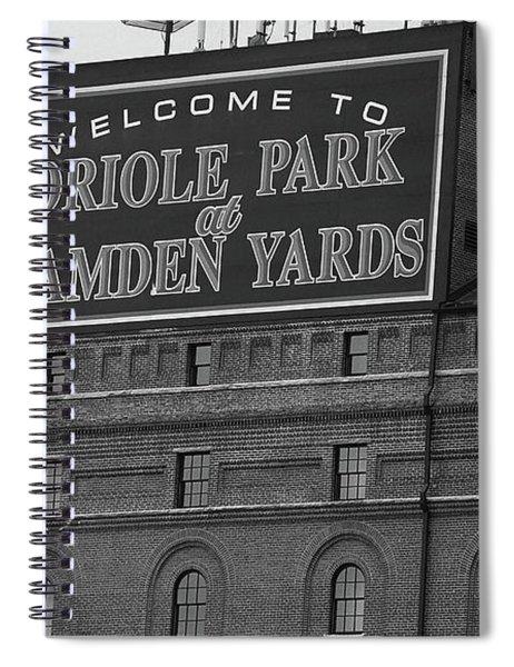 Baltimore Orioles Park At Camden Yards Bw Spiral Notebook