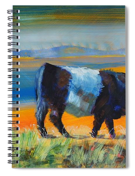 Belted Galloway Cow Spiral Notebook