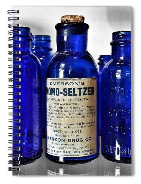 Bromo Seltzer Vintage Glass Bottles Collection Spiral Notebook