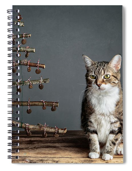 Cat Christmas Spiral Notebook